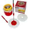 Poraty New Compact Edition Deluxe Rotating 360 Spin Mop with 2 Mop Heads