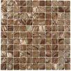 "Splashback Tile Baroque 1"" x 1"" Glass Pearl Shell Mosaic Tile in Beige"