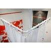 Tropik Home 85cm L-Shaped Fixed Shower Curtain Rail & Ring Set