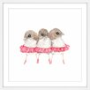"Marmont Hill ""Ballerina Birds"" by Thimble Sparrow Framed Art"