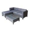 Hokku Designs Scarlet 3 Piece Sectional Sofa Set with Cushions