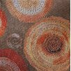 Vintage Boulevard Sequined Mandalas I Wall Art on Canvas in Red