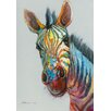 Vintage Boulevard Technicolour Zebra Wall Art on Canvas
