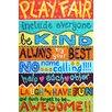 "Marmont Hill ""Playroom Rules II"" by Nicola Joyner Typography Canvas Art"