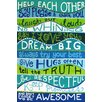"Marmont Hill ""Family Rules II"" by Nicola Joyner Typography Canvas Art"