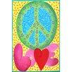 "Marmont Hill ""Peace Love"" by Nicola Joyner Painting Print Canvas Art"