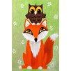 "Marmont Hill ""Owl on Fox"" by Nicola Joyner Painting Print Canvas Art"