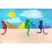 "Marmont Hill ""Rainbow Cats II"" by Nicola Joyner Painting Print Canvas Art"