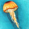 "Marmont Hill ""Jellyfish Yellow"" by Nicola Joyner Painting Print Canvas Art"