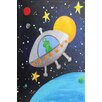 "Marmont Hill ""Green Alien"" by Nicola Joyner Painting Print Canvas Art"