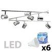 MiniSun Rosie 6 Light LED Ceiling Spotlight