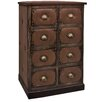 Château Chic Faux Leather 8 Drawer Chest