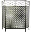 Wildon Home Abstract Design 3 Panel Steel Fireplace Screen