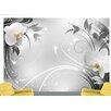 Artgeist Silver Orchids 280cm x 400cm Wallpaper