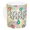 East Urban Home Flowers & Leaves by Famenxt 11 oz. Abstract Geometric Ceramic Coffee Mug