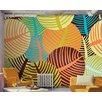 Artgeist Collage: Leaves 2.31m x 300cm Wallpaper