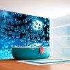 Artgeist Blue Bubbles 1.54m x 200cm Wallpaper