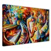 Hokku Designs Bottle Jazz Musicians by Leonid Afremov Painting Print on Wrapped Canvas