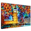 Hokku Designs London 2012 by Leonid Afremov Painting Print on Wrapped Canvas