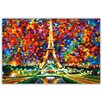 Hokku Designs New Paris of My Dreams by Leonid Afremov Painting Print on Wrapped Canvas