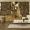 Artgeist Klimt Inspiration - Golden Kiss 2.8m x 400cm Wallpaper