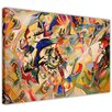 Hokku Designs Composition 7 by Wassily Kandinsky Painting Print on Wrapped Canvas