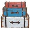 Home & Haus 3 Piece Fir Wood Suitcase Set