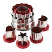 Cake Boss Everyday Linzer 6 Piece Cookie Cutter Set