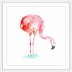"Marmont Hill ""Flamingo Bends"" by Michelle Dujardin Framed Painting Print"