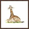 """Marmont Hill Gerahmtes Poster """"Baby Giraffe"""" von Michelle Dujardin, Kunstdruck"""