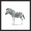 """Marmont Hill """"Zebra Stance"""" by Michelle Dujardin Framed Painting Print"""