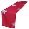 The Holiday Aisle Christmas Embroidered with Snowflakes Table Runner