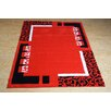 Castleton Home Finsbury Red/Black Area Rug