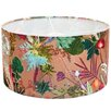 Hazelwood Home 45cm Tropical Fabric Drum Lamp Shade