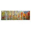 East Urban Home 'Fall Trees, Shinhodaka, Gifu, Japan' Photographic Print on Canvas