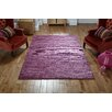 August Grove Ned Hand-Woven Mauve Rug
