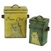 ChâteauChic 2-Piece Cat Food Tin Set