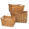 House Additions Lacak Rattan Storage Basket 3 Piece Set