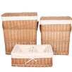 House Additions 6 Piece Wicker Laundry Set
