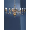 Franklite Delft 8 Light Candle Chandelier