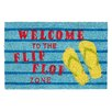 Relaxdays Welcome To The Flip Flop Zone Doormat