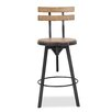 Laurel Foundry Modern Farmhouse Gloria Adjustable Height Swivel Bar Stool