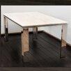 Hokku Designs Stone/Stainless Steel Dining Table