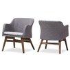 Victoria Mid-Century Modern Fabric Armchair (Set of 2)