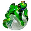 Home Essence Glass Jungle Frog Paperweight