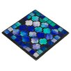 Home Essence Glass Mosaic Coaster