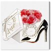 Oliver Gal 'Gorgeous Gifts Noir' Graphic Art on Wrapped Canvas