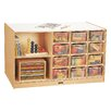 Jonti-Craft Island Double Side 14 Compartment Cubby with Trays