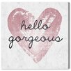 Oliver Gal 'Gorgeous Salute Rose' Typography on Wrapped Canvas