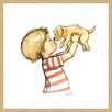 Marmont Hill 'Puppy Loves Boy' by Phyllis Harris Framed Graphic Art